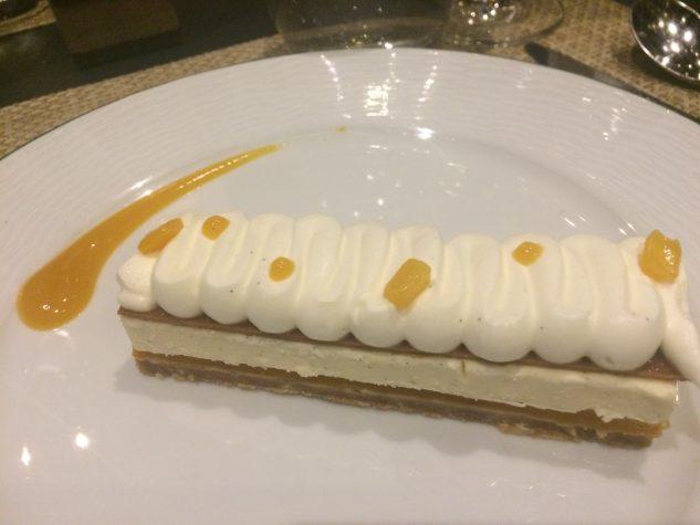 Mousse cheese cake, spéculos à la mangue et passion