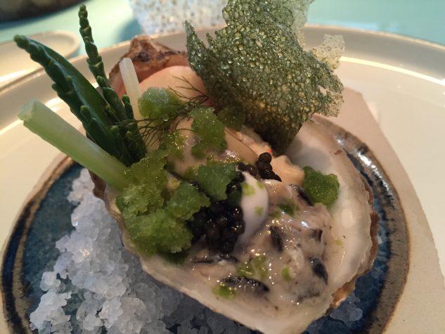 French oyster / crab / avocado / sea lavender / fresh herbs / oystercream / caviar