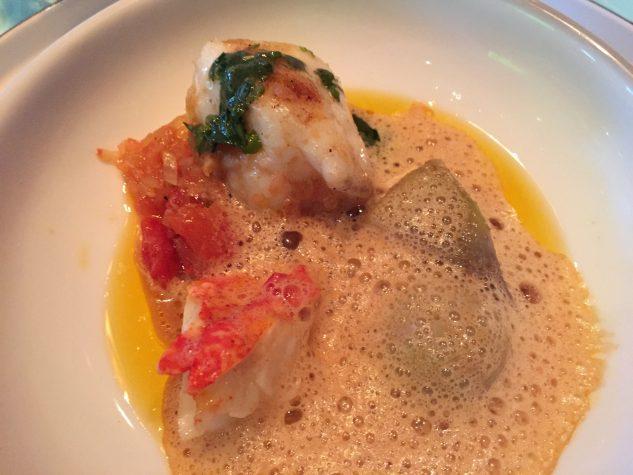 Monkfish / terragon / artichokes / antiboise / Oosterschelde lobster