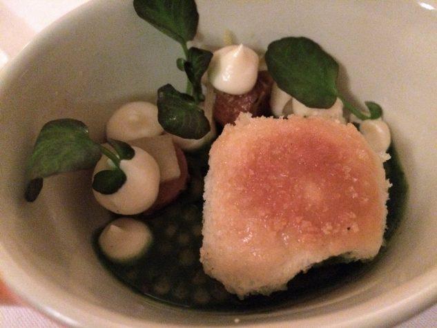 Gruß aus der Küche: Buchtel / Karotte / Apfel