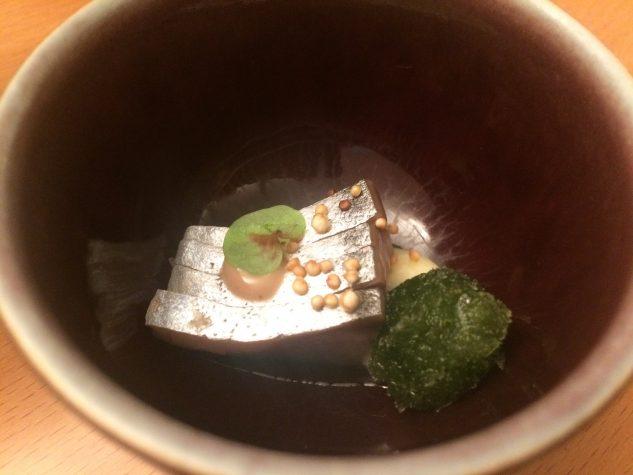 Sashimi und Algen-Granité