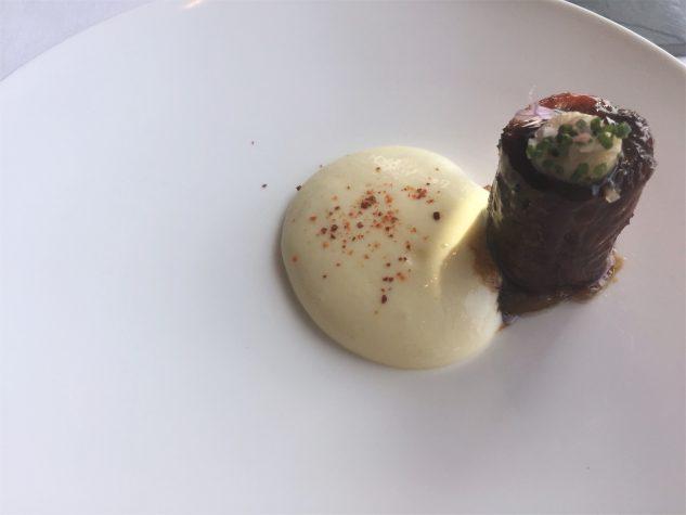 ...à part: BBQ Ochsenschwanz mit Mark, Polenta und Zwiebelmarmelade