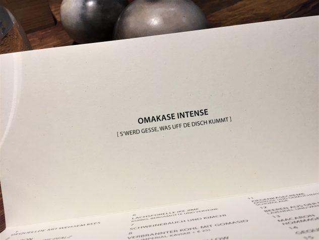 Omakase-Menü