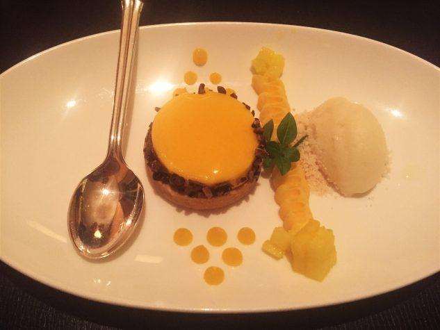 Thai-Mango-Tartlet, Topfen, Yuzu-Eis