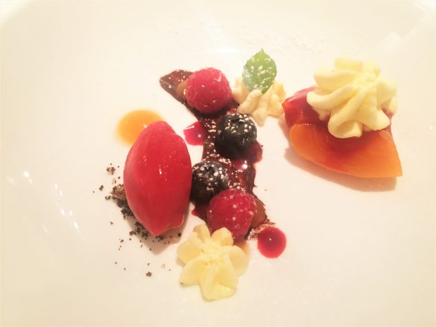 Pré-Dessert: Pfirsich Melba nach Art des Chefs