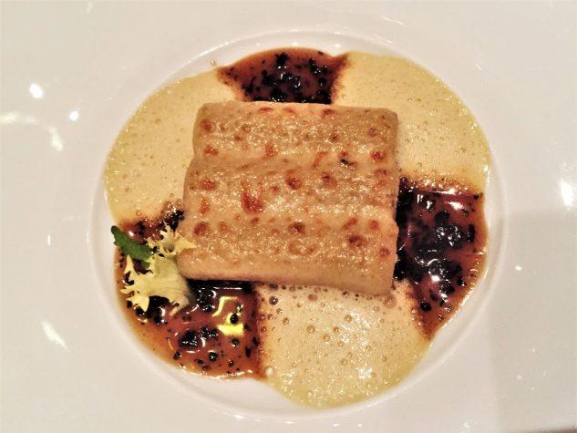 Gefüllte Macaroni mit schwarzem Trüffel, Artischocken und Entenstopfleber, überbacken mit altem Parmesan