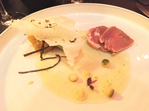 Thunfisch-Sashimi, Gurke, Wasabi