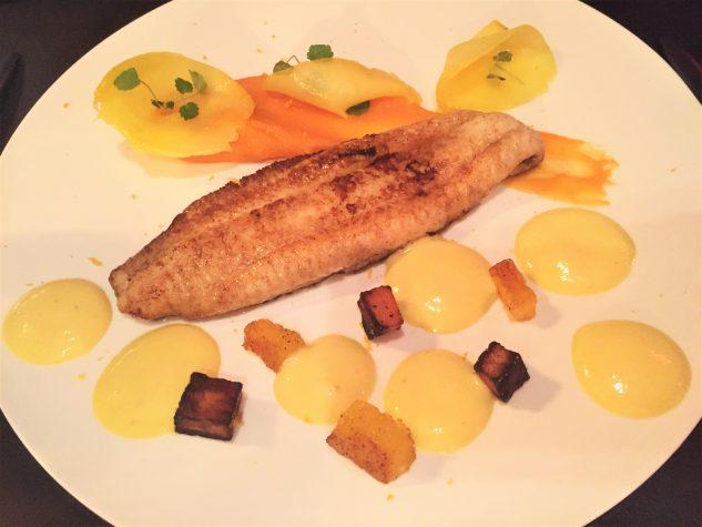 Seezunge, Süßkartoffel, Mango