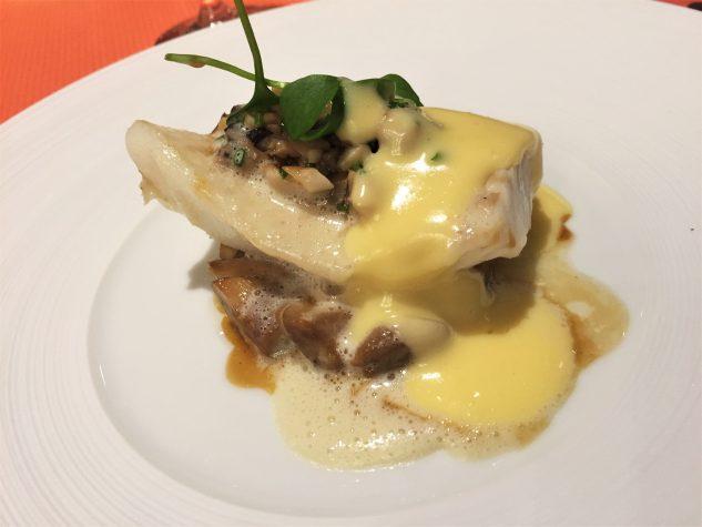 Steinbutt, Pilze, Hollandaise