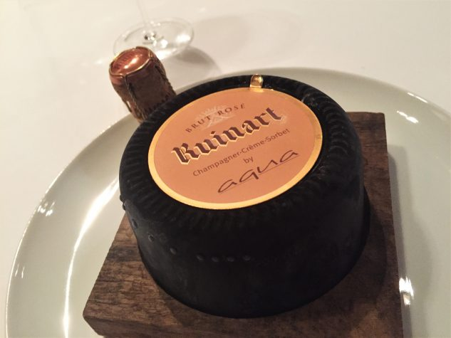 "Champagner Cremesorbet ""Edition Ruinart Rosé"""