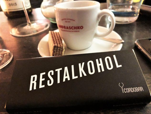 """Zotter Schokoriegel """"Restalkohol"""""""