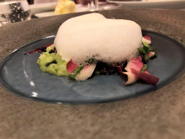 Bärlauch-Acquerello-Risotto mit Parmesanschaum