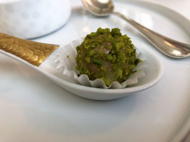 Foie gras (bio), Litschi, Pistazie