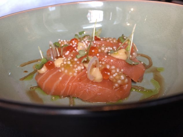 Lachs & Senf-Miso / Sashimi / Keta-Kaviar