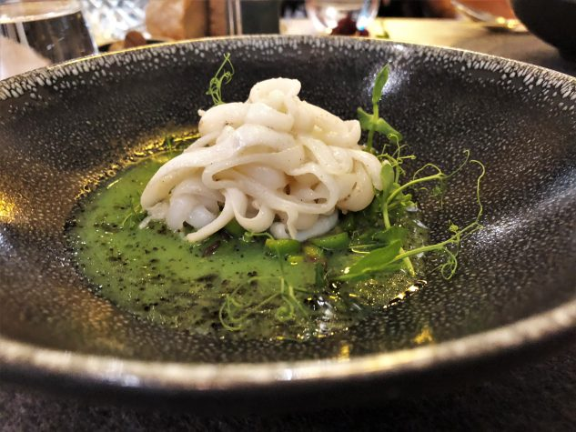 Calamaretti / Erbse / Schwarze Olive