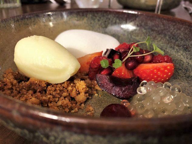 Grüner Anis - Als geeistes Parfait, rote Früchte & Bergamotte