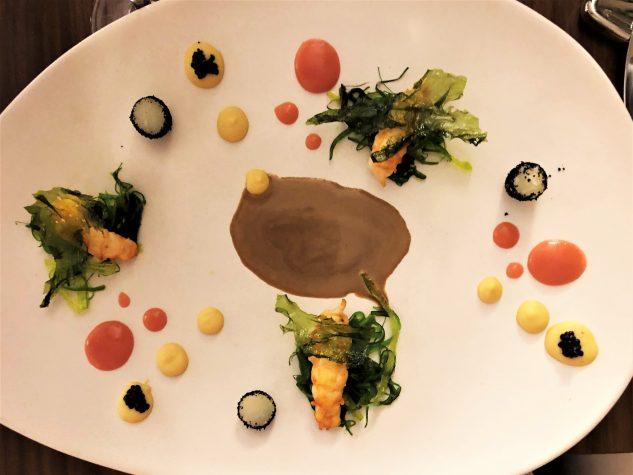 Die Langustine - Hummus, Kohlrabi & Sesam-Wakame