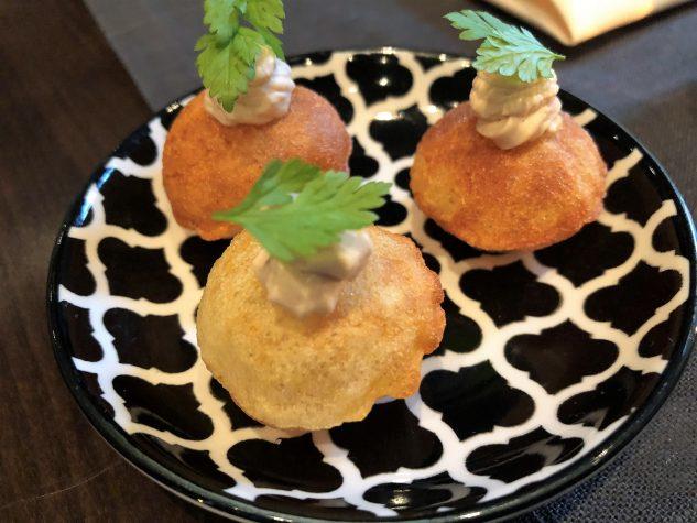 Fingerfood: Kartoffelkissen, BBQ Creme
