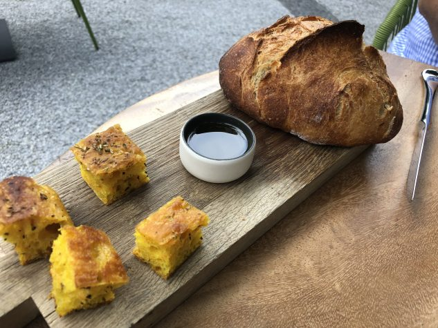 Karotten-Focaccia, Weißbrot, Olivenöl