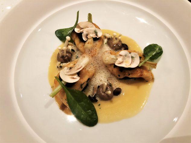 Seezunge vom kleinen Boot [Vendée] | Pilze | Lauch | Vin Jaune