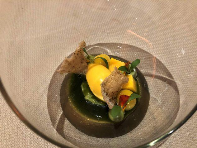 Mango mit Olivenöl, Avocado & Koriander