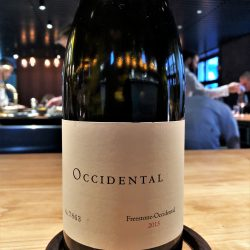2015 Pinot Noir Occidental Freestone, Occidental, Sonoma Coast, USA