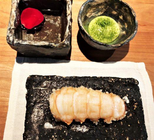Langoustine, knuspriger Reis (Koshihikari) & geklärte Butter