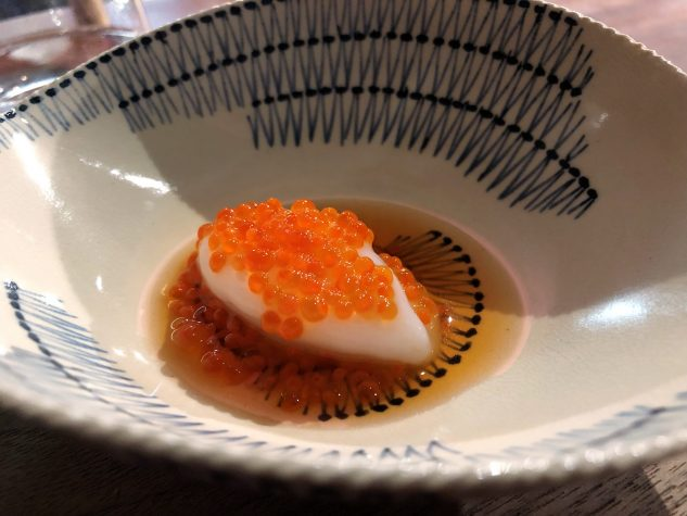 Reissorbet mit Lachskaviar