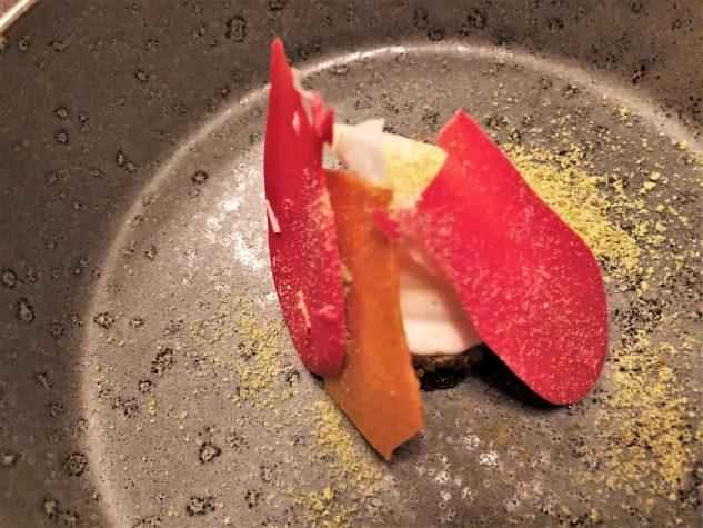 Pré-Dessert: Couscous / Ziegenkäse / Schokolade