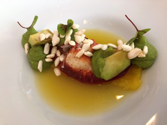 Hummermedaillon| Eingelegte Ananas | Basmatireis | Pandansud