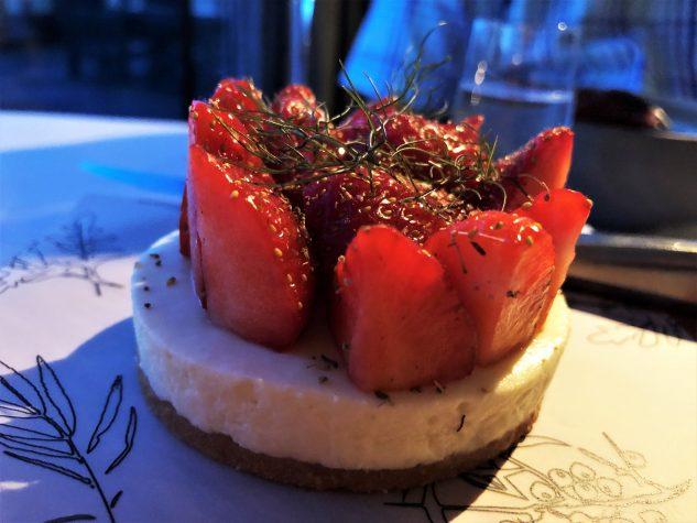 Törtchen mit Erdbeere & Fenchelkrokant