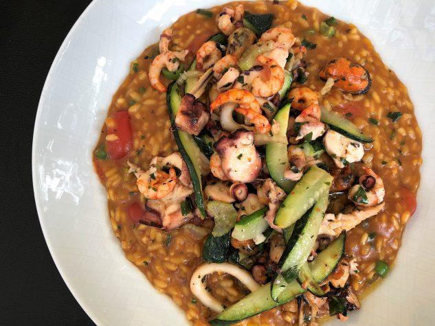 Risotto Mare | Meeresfrüchte | Krustentier Safransud | Zucchini | Kirschtomaten