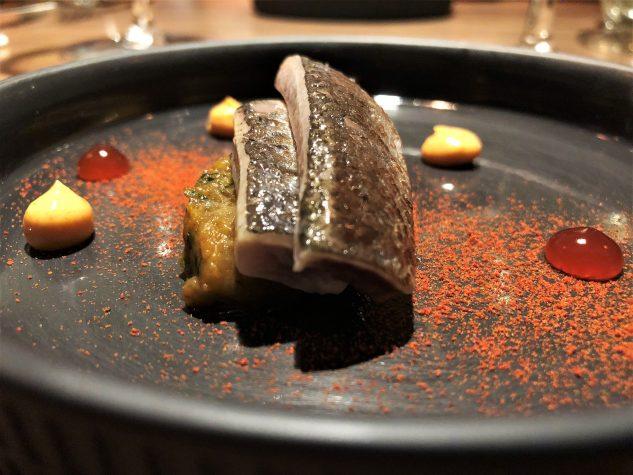 Sardine mit Auberginenpüree