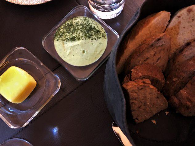 Brot, Butter, Kräutercreme