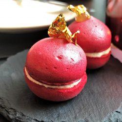 Rote Bete Macaron, Räucheraal
