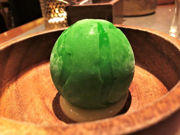 Lemon-lime globe