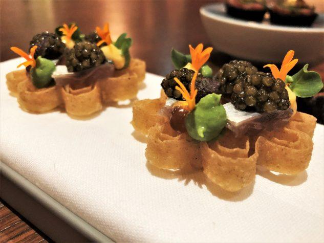 Japanische Waffel mit Sardine [Portugal] & Meereskräutercrème