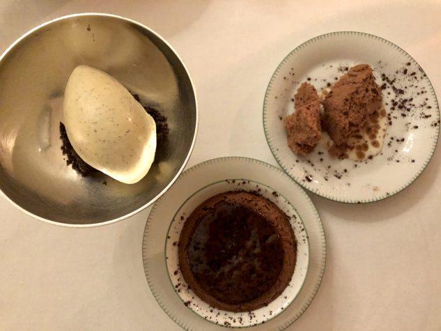 Schokoladensoufflé - Parfait - Vanilleeis