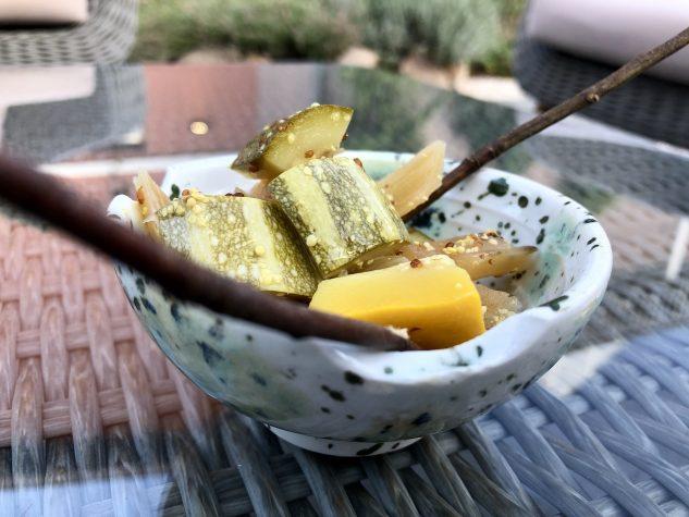 Zucchini & Mangold gepickelt