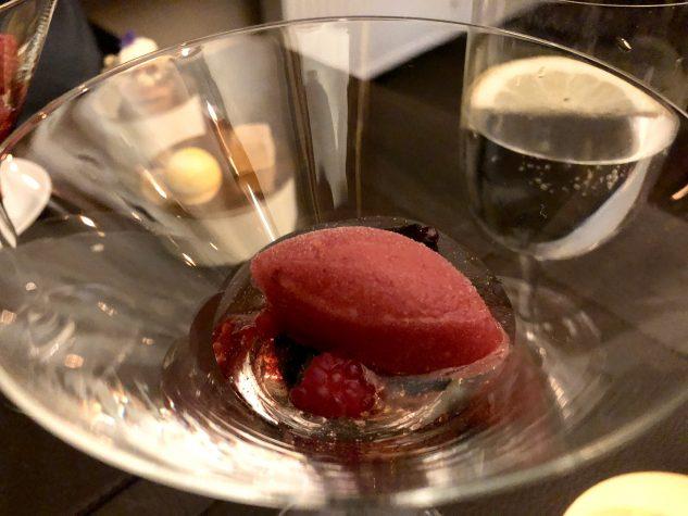 Himbeersorbet & Champagnersüppchen