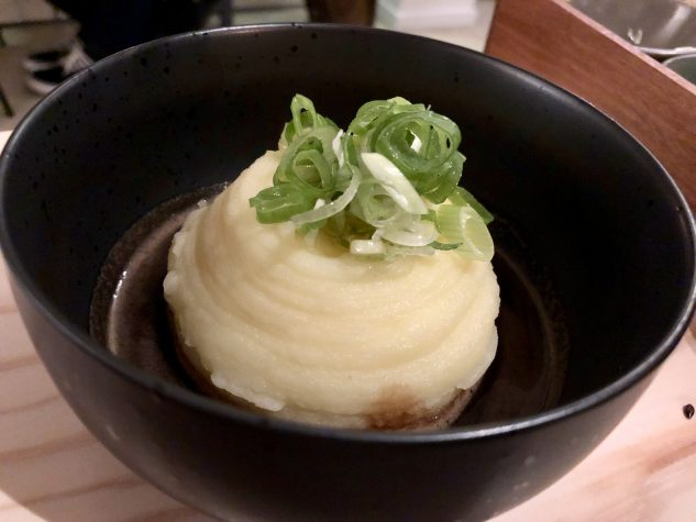Quatsch mit Soße 65°- Kartoffelpüree – Vegi-Jus – Frühlauch