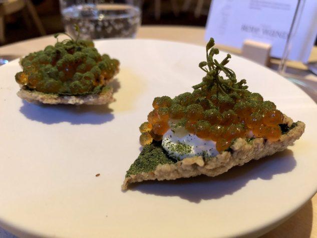 Buchweizen / Forellenkaviar / Dill